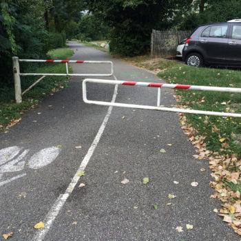 Scellement de bariere de piste cyclabe