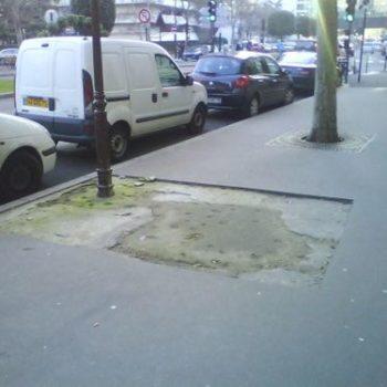 réparation de trottoire